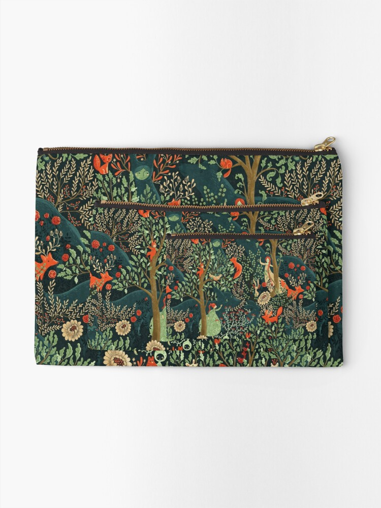 Alternate view of Whimsical Wonderland Zipper Pouch