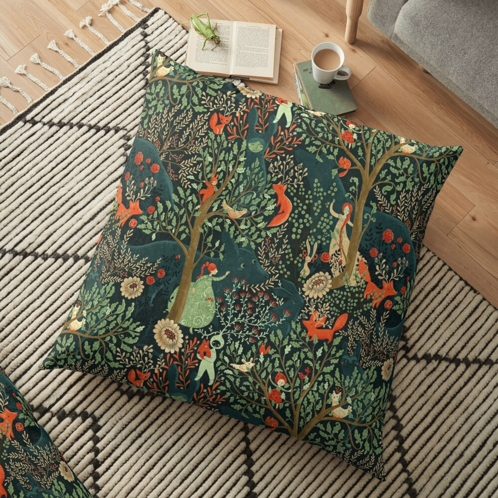 Whimsical Wonderland Floor Pillow