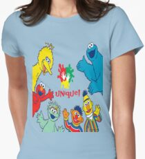 sesame street crew. Womens Fitted T-Shirt