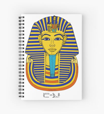 TUTANCHAMUN I Pharao Totenmaske Spiralblock