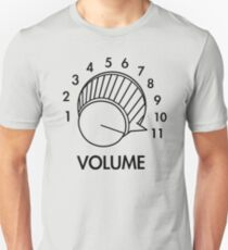 Volume Knob Up To 11 Spinal Tap Inspired Funny Guitar T-Shirt Slim Fit T-Shirt