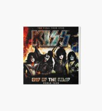 world the kiss road end of ever Art Board Print