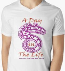 A Day in the Life Logo #2 V-Neck T-Shirt