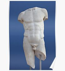Ancient Male Torso Poster