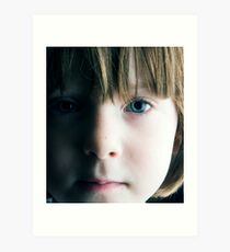 Low Key Childs Portrait Art Print