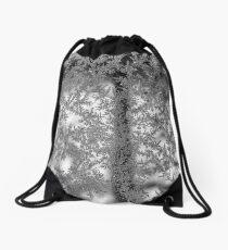 Ice flowers Drawstring Bag