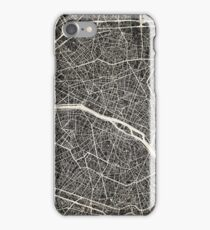 Paris map iPhone Case/Skin