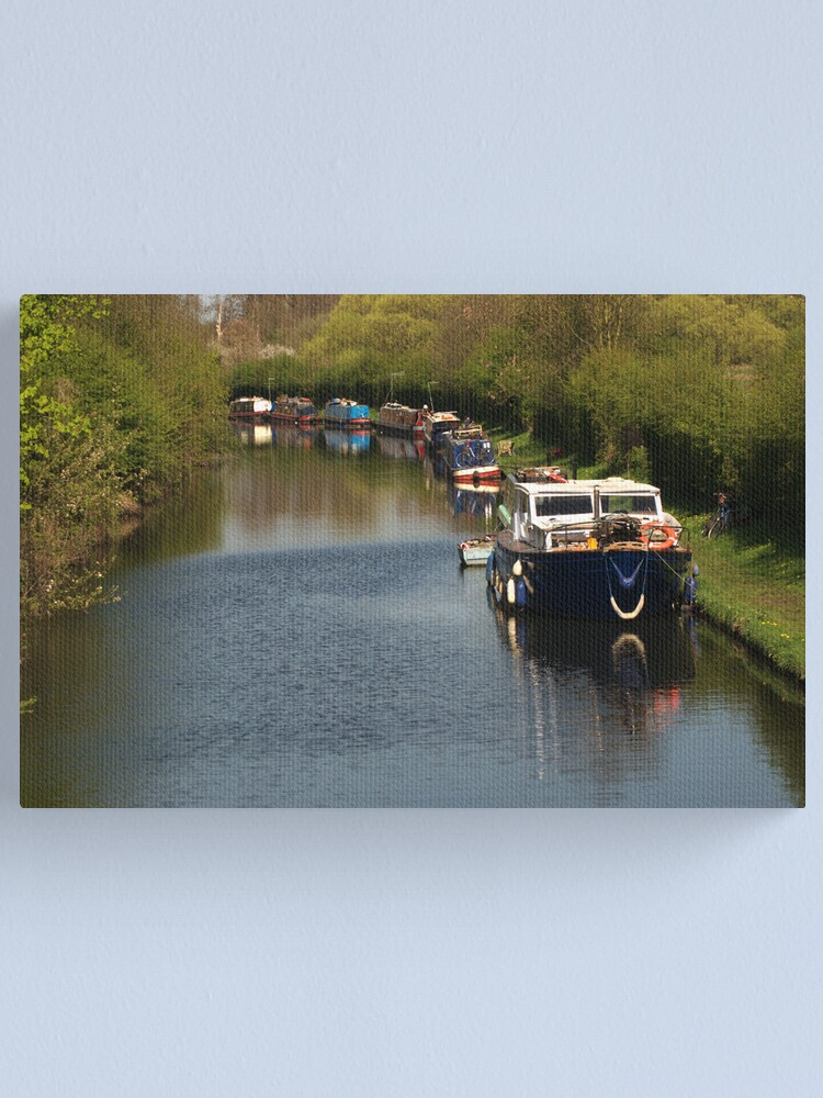 Alternate view of Canal Craft Canvas Print