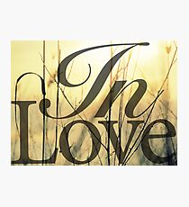 In Love Photographic Print