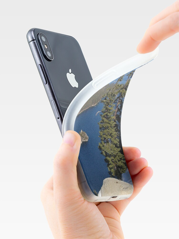 Alternate view of Overlooking Emerald Bay iPhone Case & Cover