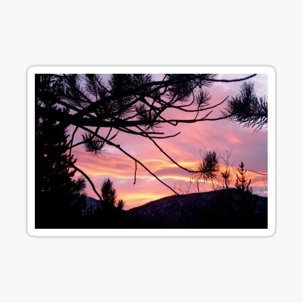 Sunrise Emerging Over the Sierra Nevada Mountains Sticker