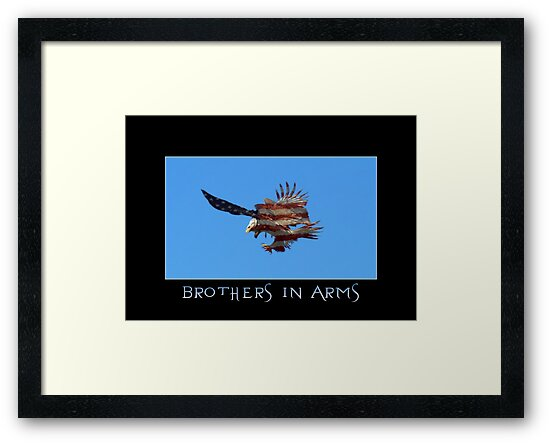 """""""Brothers in Arms"""" Patriotic Poster  by NaturePrints"""
