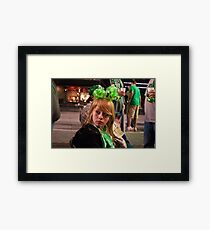 Little Miss Saint Paddys Day Framed Print