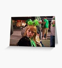 Little Miss Saint Paddys Day Greeting Card