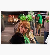 Little Miss Saint Paddys Day Poster