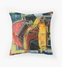 street scape Throw Pillow