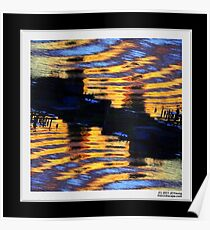 Diptych of Ripples and Reflections  Poster