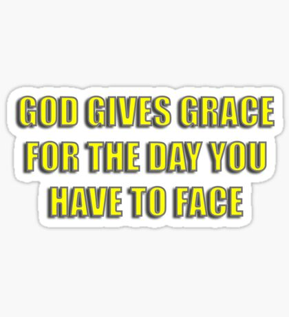 grace to face Sticker