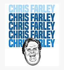Chris Farley Nostalgia Happy face Graphic Photographic Print