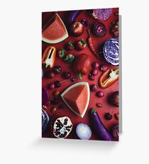 Red and purple food Greeting Card