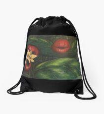 Floral Hellscape V Drawstring Bag