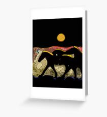 After the Gold Rush River Ponies 2 Greeting Card
