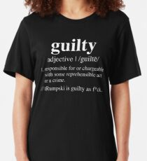 Guilty Definition - Impeachment Edition  Slim Fit T-Shirt