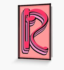 The Alphabet  The letter R Greeting Card