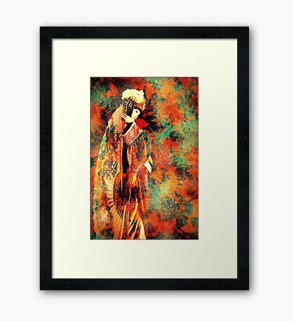 Geisha Girl Framed Print