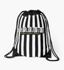Beetlejuice Striped Musical Broadway Logo  Drawstring Bag