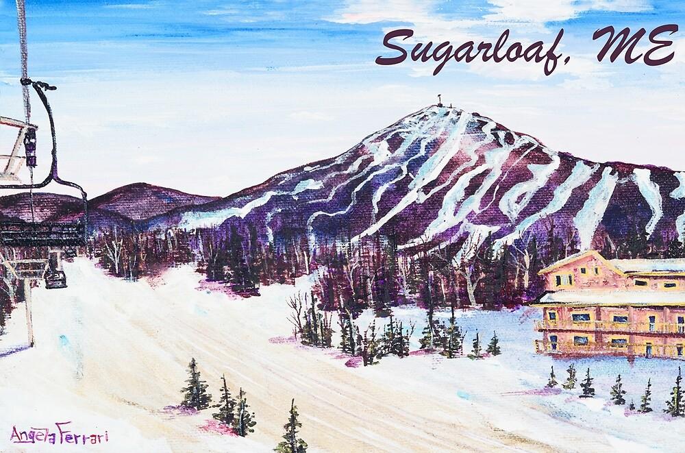 Sugarloaf Morning Carrabassett Maine by Angela Ferrari by ByFerrari
