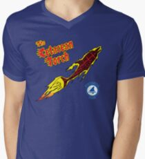 The Cetacean Torch Men's V-Neck T-Shirt