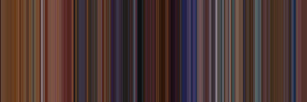 Moviebarcode: Eyes Wide Shut (1999) [Simplified Colors] by moviebarcode