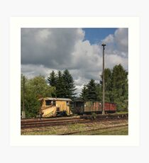 Cranzahl Station - The Snowplow Art Print