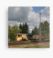 Cranzahl Station - The Snowplow Metal Print