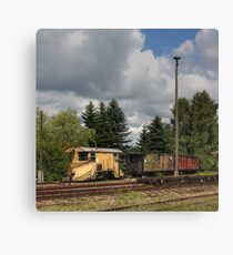 Cranzahl Station - The Snowplow Canvas Print