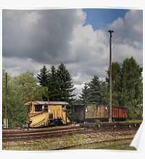 Cranzahl Station - The Snowplow Poster