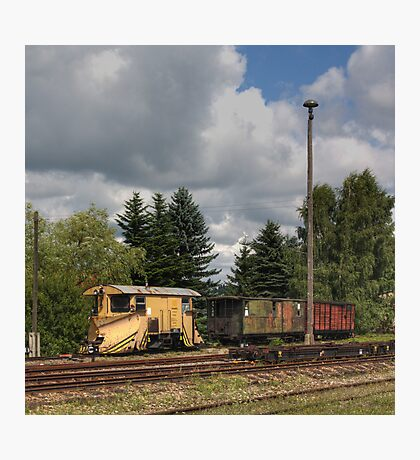 Cranzahl Station - The Snowplow Photographic Print