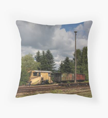 Cranzahl Station - The Snowplow Throw Pillow