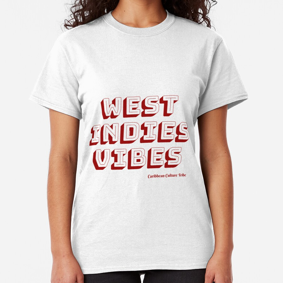 West Indies Vibes - Red Font Classic T-Shirt