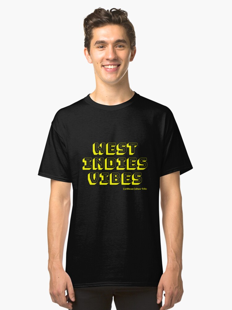 Alternate view of West Indies Vibes - Yellow Font Classic T-Shirt