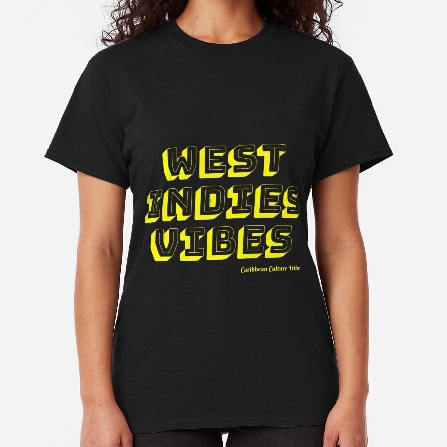 West Indies Vibes - Yellow Font Classic T-Shirt