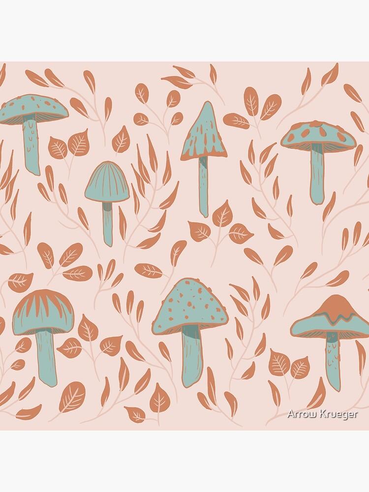 Leaves and Mushrooms Print by kruegerarrow