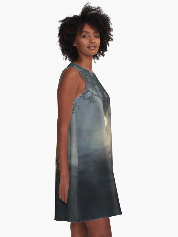 Alternate view of Semicolon - Cont;nue  A-Line Dress