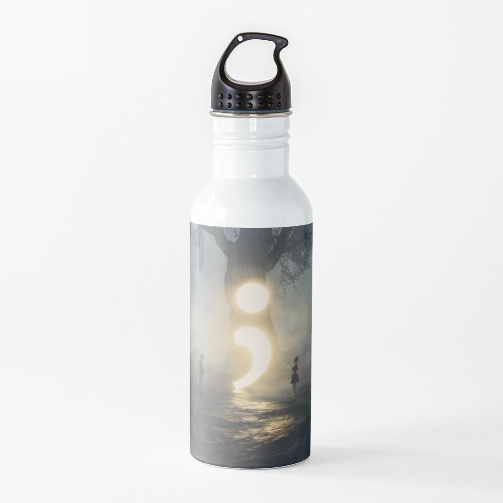Semicolon - Cont;nue  Water Bottle