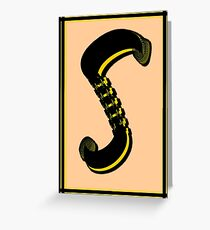 The Alphabet  The letter S Greeting Card