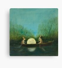 The Dreaming Moon  Canvas Print