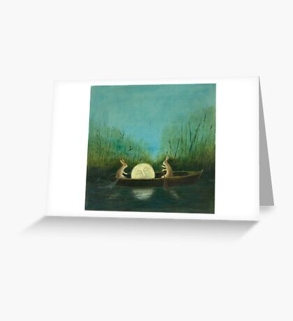 The Dreaming Moon  Greeting Card