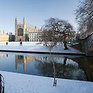 Kings College in Winter by Robert Ellis