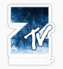 Zombie TV Sticker